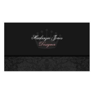 Mackenzie #3 Black Damask Chic Business Card