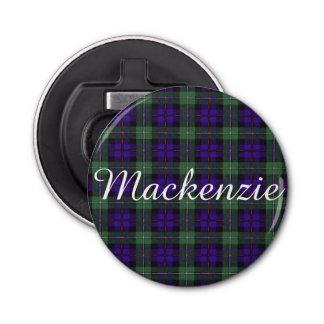 Mackenzie clan Plaid Scottish tartan Bottle Opener