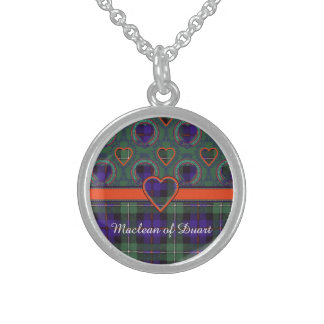 Mackenzie clan Plaid Scottish tartan Sterling Silver Necklaces