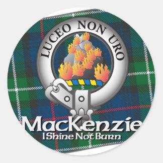 Mackenzie Clan Round Sticker