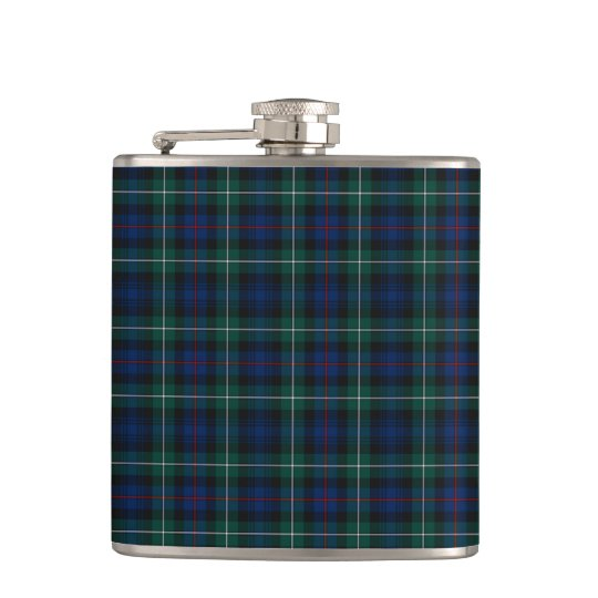 Mackenzie Clan Tartan Navy Blue and Green Plaid