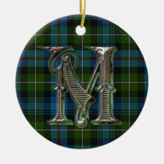 MacKenzie Plaid Monogram ornament
