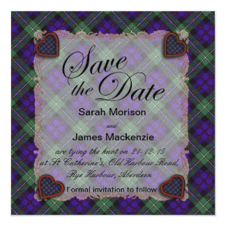Mackenzie Scottish clan tartan - Plaid Card