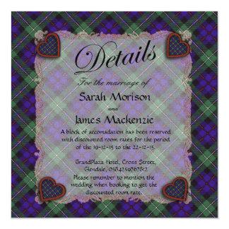 Mackenzie Scottish clan tartan - Plaid 5.25x5.25 Square Paper Invitation Card