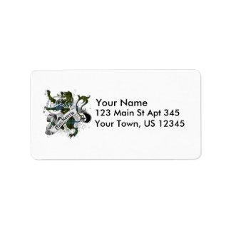 MacKenzie Tartan Lion Address Label