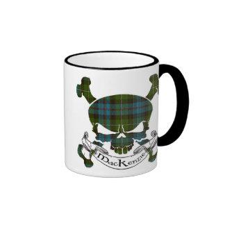 MacKenzie Tartan Skull Ringer Mug