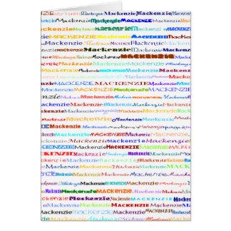Mackenzie Text Design II Vertical Greeting Card
