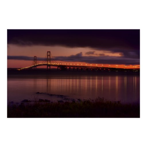 Mackinac Bridge #1240 C Poster