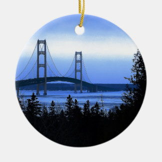 Mackinac Bridge Christmas Ornament