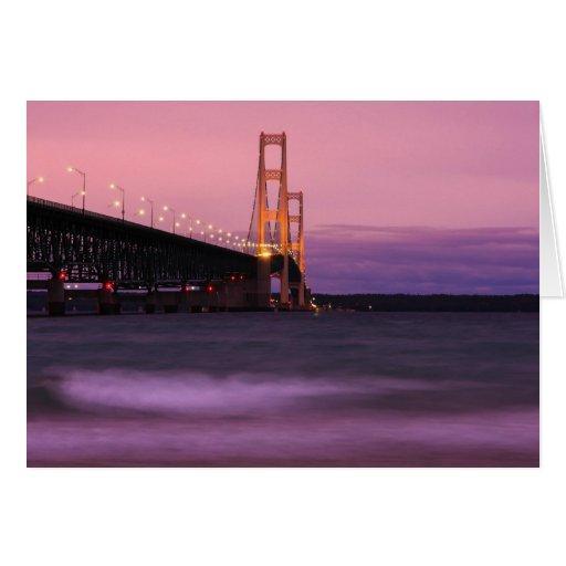 Mackinac Bridge Dusk Card