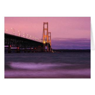 Mackinac Bridge Dusk Greeting Card