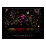 Mackinac Bridge Fireworks Print
