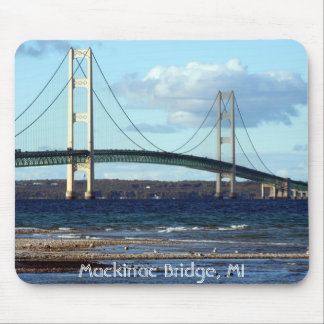 Mackinac-Bridge-in-fall, Mackinac Bridge, MI Mouse Mat
