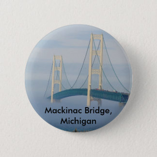 Mackinac Bridge, Michigan 6 Cm Round Badge