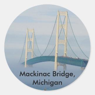 Mackinac Bridge, Michigan Classic Round Sticker