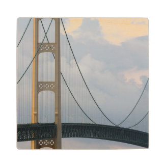 Mackinac Bridge, Michigan, USA Wood Coaster