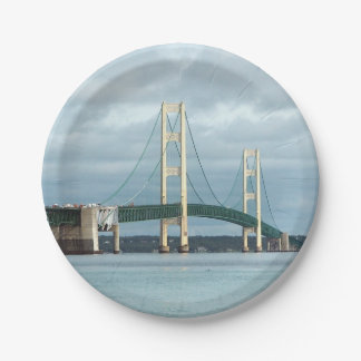 Mackinac Bridge Paper Plate