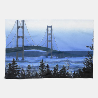 Mackinac Bridge Tea Towel