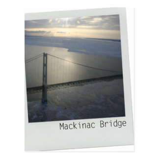 Mackinac Bridge Upper Peninsula Michigan postcard