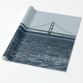 Mackinac Bridge Upper Peninsula Michigan Wrapping Paper
