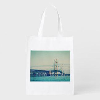 Mackinac Bridge Grocery Bag