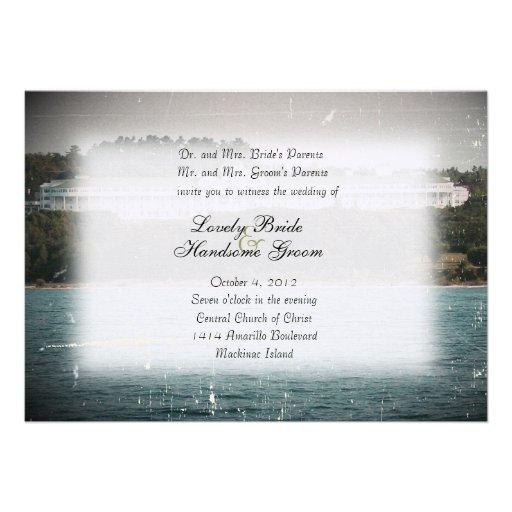 Mackinac Island Grand Hotel Wedding Invitation