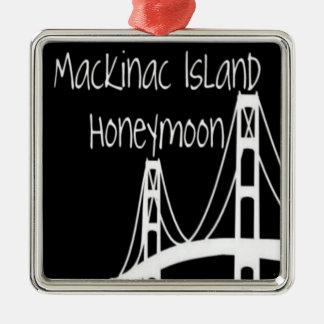 Mackinac Island Honeymoon Silver-Colored Square Decoration