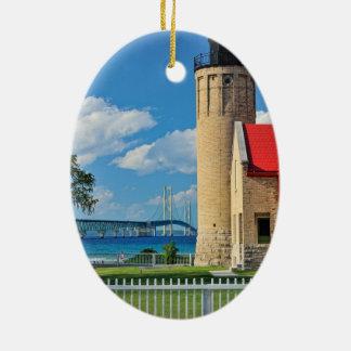 Mackinac Lighthouse Christmas Ornament