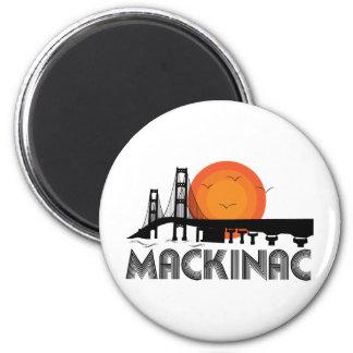 Mackinac 6 Cm Round Magnet