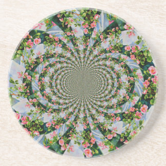Mackinac Rose mandala Coaster