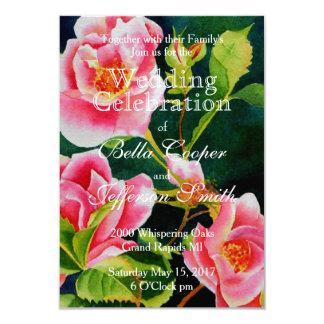Mackinac Rose Wedding 9 Cm X 13 Cm Invitation Card