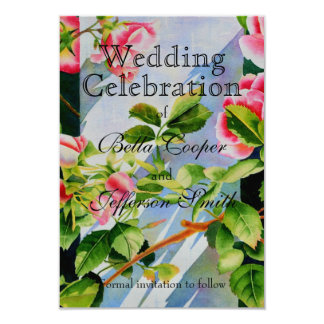 Mackinac Rose - wedding invitation