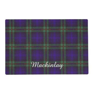 Mackinlay clan Plaid Scottish tartan Laminated Place Mat