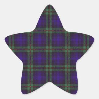 Mackinlay clan Plaid Scottish tartan Star Stickers