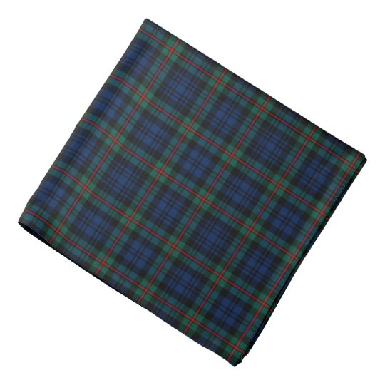 MacKinlay Clan Tartan Dark Blue and Black Plaid