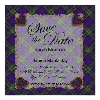 Mackinlay Scottish clan tartan - Plaid Card
