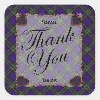 Mackinlay Scottish clan tartan - Plaid Stickers