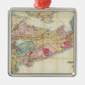 Mackinlay's map of the Province of Nova Scotia 2 Christmas Ornament