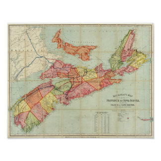 Mackinlay's map of the Province of Nova Scotia 2 Poster