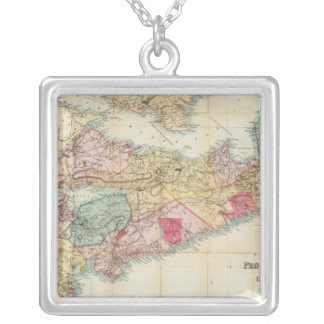 Mackinlay's map of the Province of Nova Scotia 2 Silver Plated Necklace