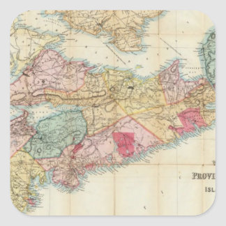 Mackinlay's map of the Province of Nova Scotia 2 Square Sticker