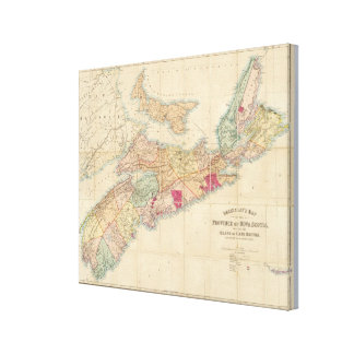 Mackinlay's map of the Province of Nova Scotia 3 Canvas Print