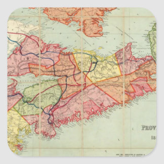 Mackinlay's map of the Province of Nova Scotia 4 Square Sticker