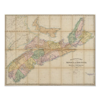 Mackinlay's map of the Province of Nova Scotia Poster