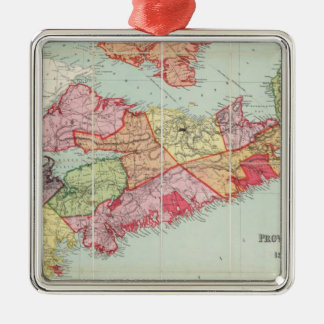 Mackinlay's map of the Province of Nova Scotia Silver-Colored Square Decoration