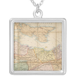Mackinlay's map of the Province of Nova Scotia Silver Plated Necklace