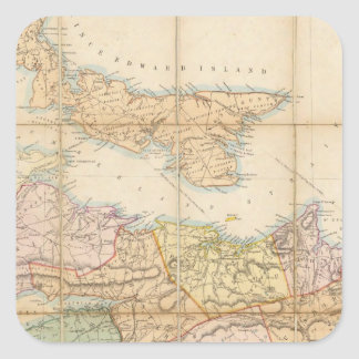 Mackinlay's map of the Province of Nova Scotia Square Sticker