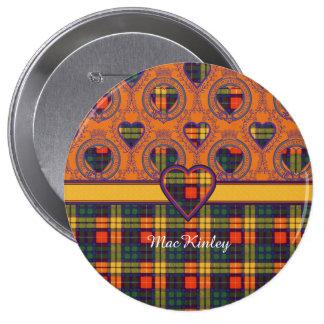 MacKinley clan Plaid Scottish kilt tartan 10 Cm Round Badge