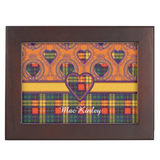 MacKinley clan Plaid Scottish kilt tartan Keepsake Box