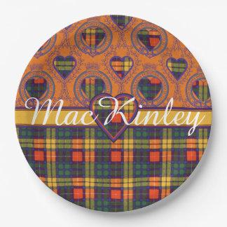MacKinley clan Plaid Scottish kilt tartan Paper Plate